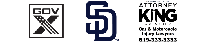 Logo: Chief Sponsor - GovX, San Diego Padres and King Aminpour